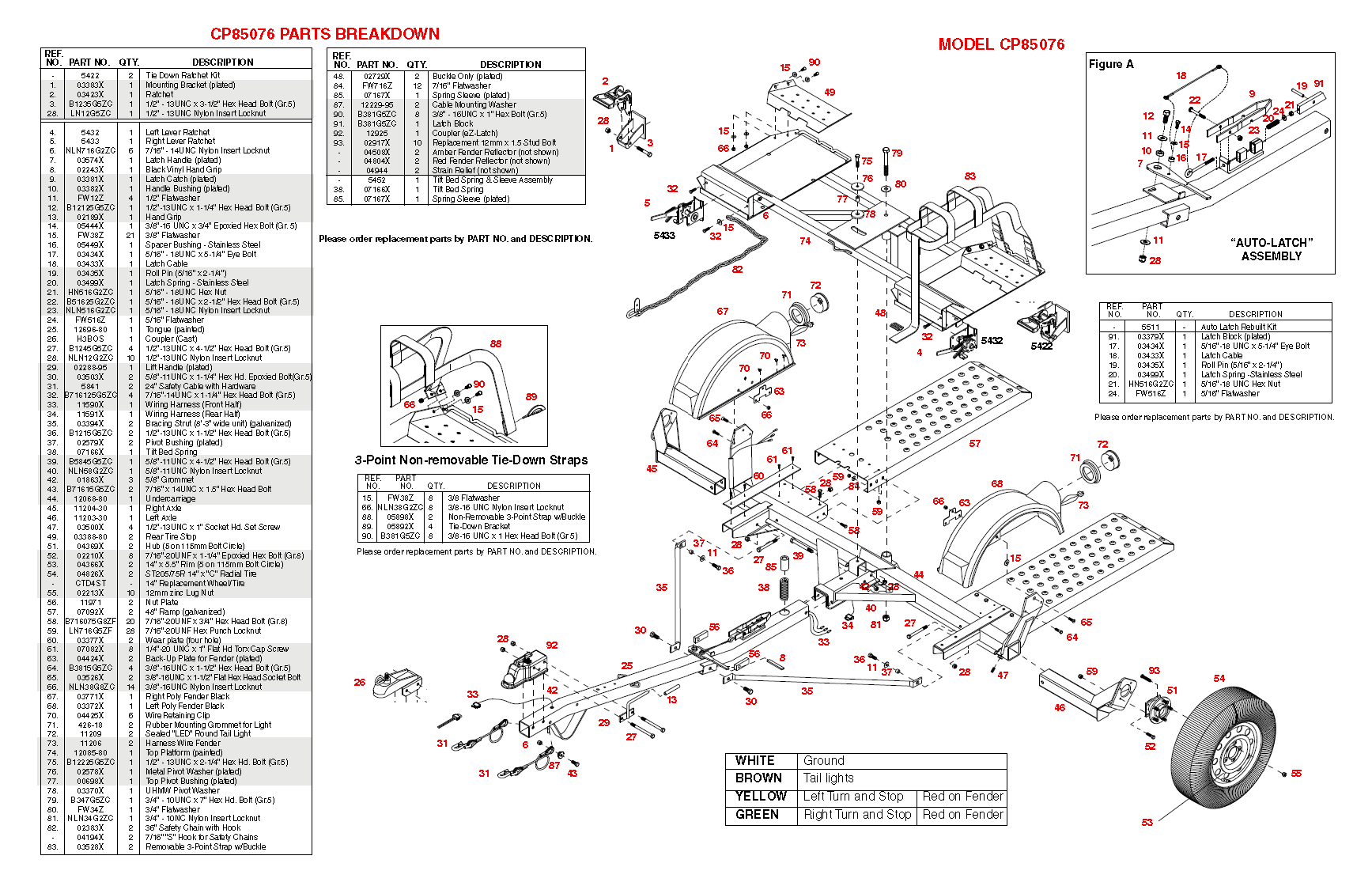 St 3051  Tow Dolly Light Wiring Diagram Free Diagram