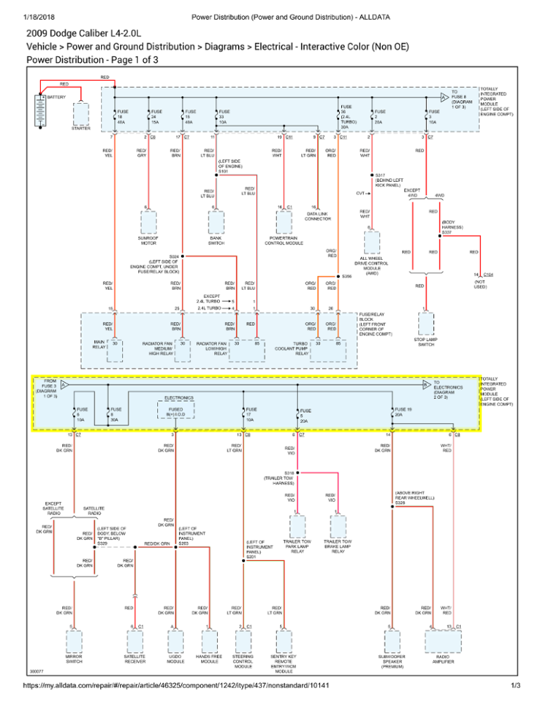 Dr 1400  Relay Switch Dodge Caliber Wiring Diagram