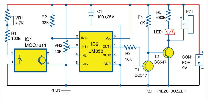ey2087 photoelectric smoke detector circuit schematic