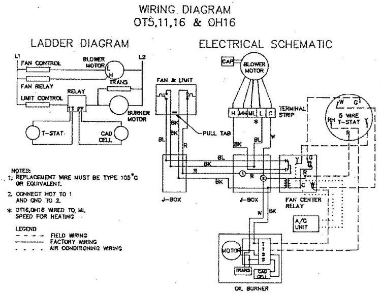 sk6955 ruud oil furnace wiring diagram oil furnace