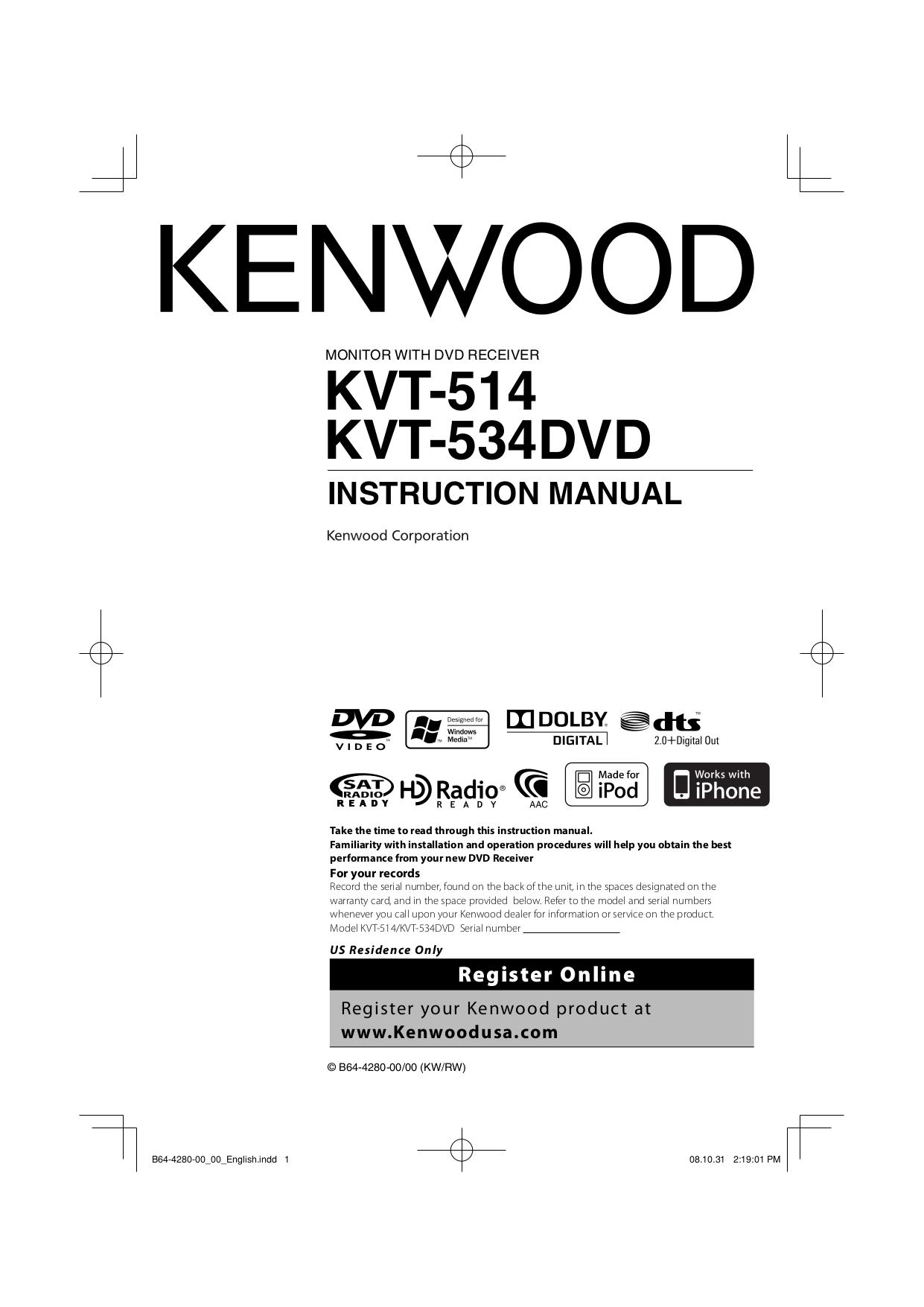 Kvt717dvd Wiring Diagram