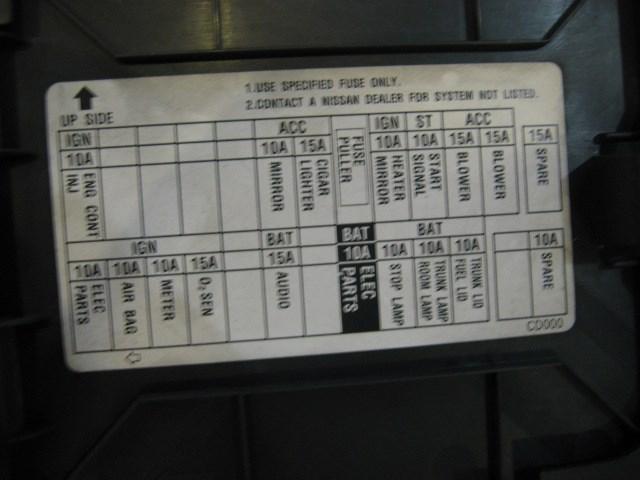 350z Interior Fuse Box Diagram