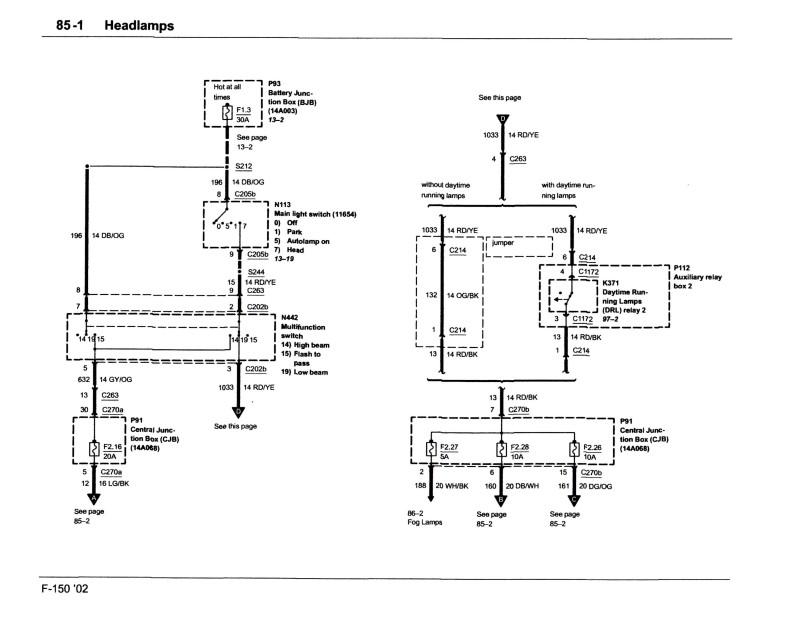 L9000 Wiring Schematic Head Light - 06 Ford Super Duty Fuse Diagram for Wiring  Diagram Schematics