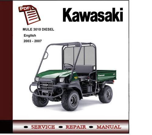 Cool 2003 2007 Kawasaki Mule 3010 Diesel Workshop Repair Manual Down Wiring Cloud Mousmenurrecoveryedborg