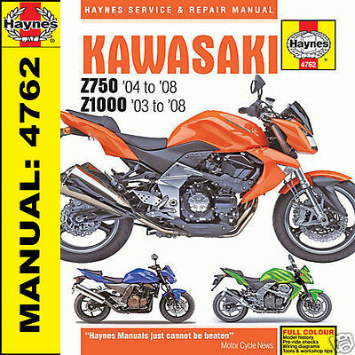 Magnificent Kawasaki Z750 Zr750J Zr750L Zr750M 2003 2008 Haynes Manual New Wiring Cloud Ittabisraaidewilluminateatxorg