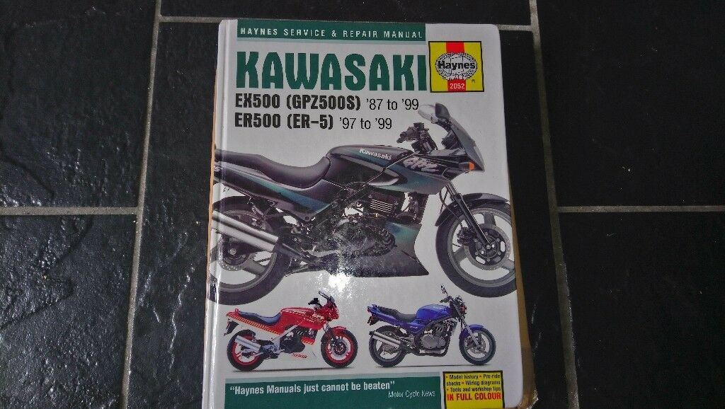 Kawasaki EX500 GPZ500 /& ER500 ER-5 1987-2008 Haynes Manual 2052 NEW