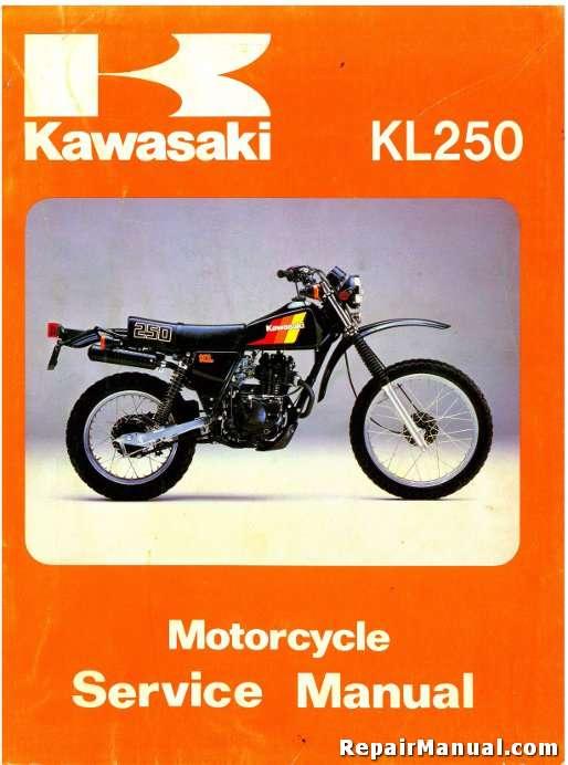 KL250 Super Sherpa Kawasaki Motorcycle Service Manual Printed ...