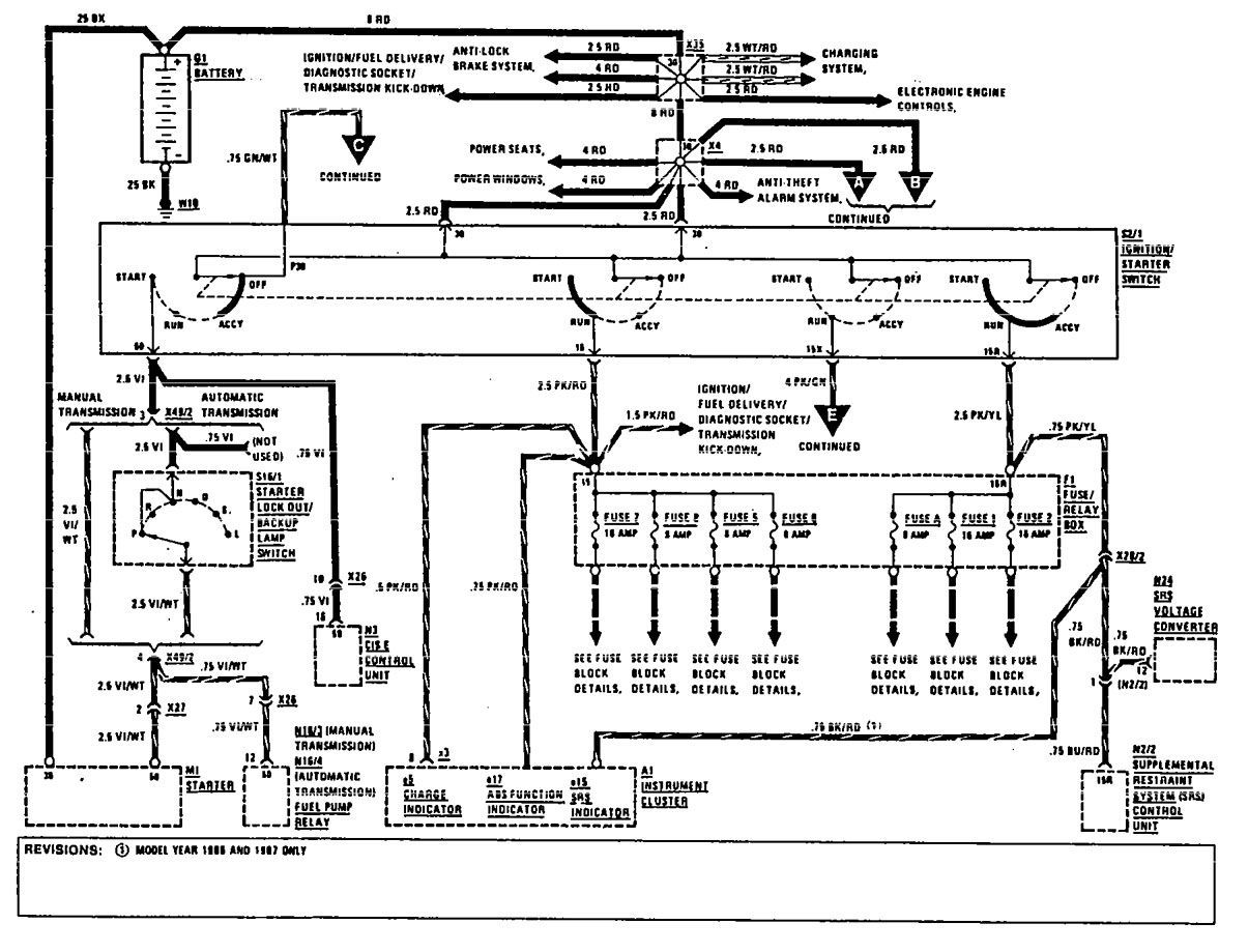 GZ_4113 1993 Mercedes 190E Radio Wiring Diagram Wiring ...