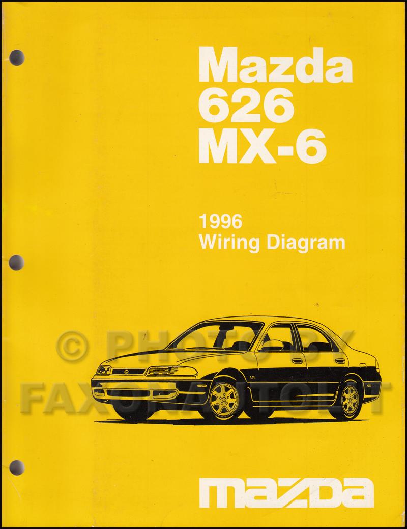 Tt 3483 1998 Mazda 626 Electrical Wiring Diagram Shop Manual