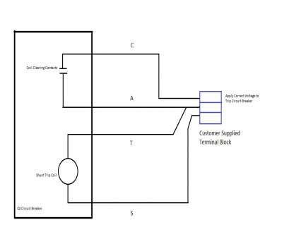 dk5141 elevator shunt trip breaker wiring diagram on shunt