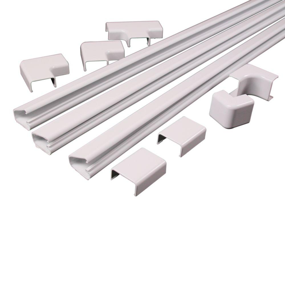 Amazing Wiremold Legrand Cordmate Ii White Cord Cover Kit C210 The Home Depot Wiring Cloud Filiciilluminateatxorg