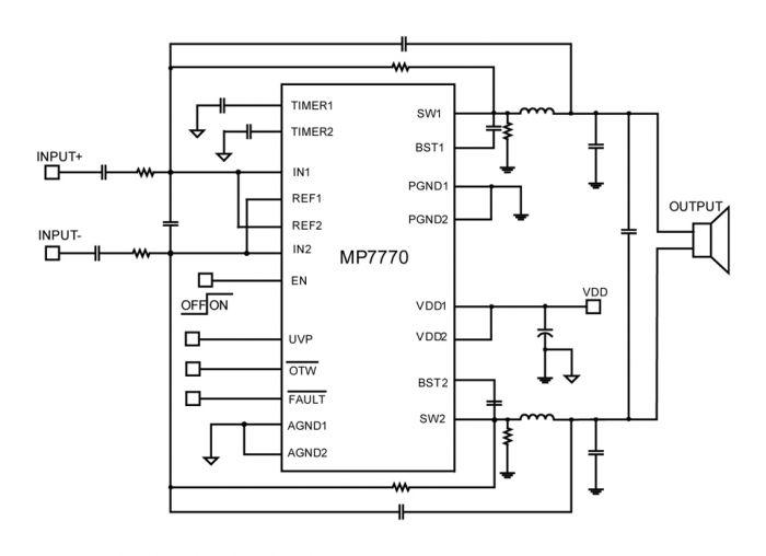 Wondrous Mp7770 Single Ended 90W Class D Mono Btl Audio Amplifier Mps Wiring Cloud Itislusmarecoveryedborg
