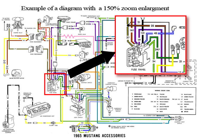 Superb 1965 Ford Mustang Colorized Wiring Diagrams Cd Rom Wiring Cloud Loplapiotaidewilluminateatxorg
