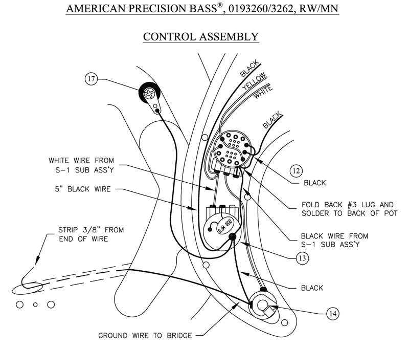 American Deluxe Precision Bass Wiring Diagram