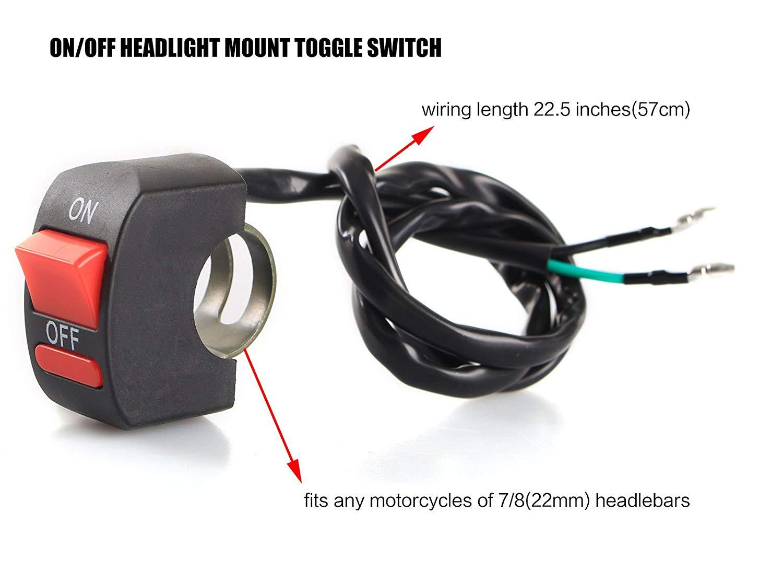 Remarkable Amazon Com Ledur Switch On Off Motorcycle 7 9 Inch Universal Wiring Cloud Itislusmarecoveryedborg