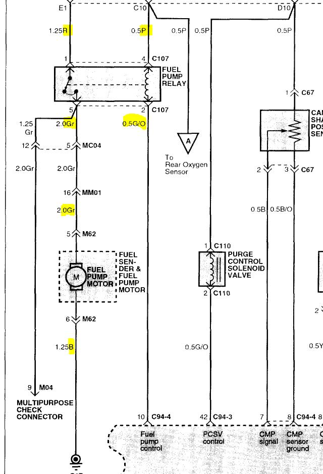 2003 Hyundai Santa Fe Fuel Pump Wiring Diagram