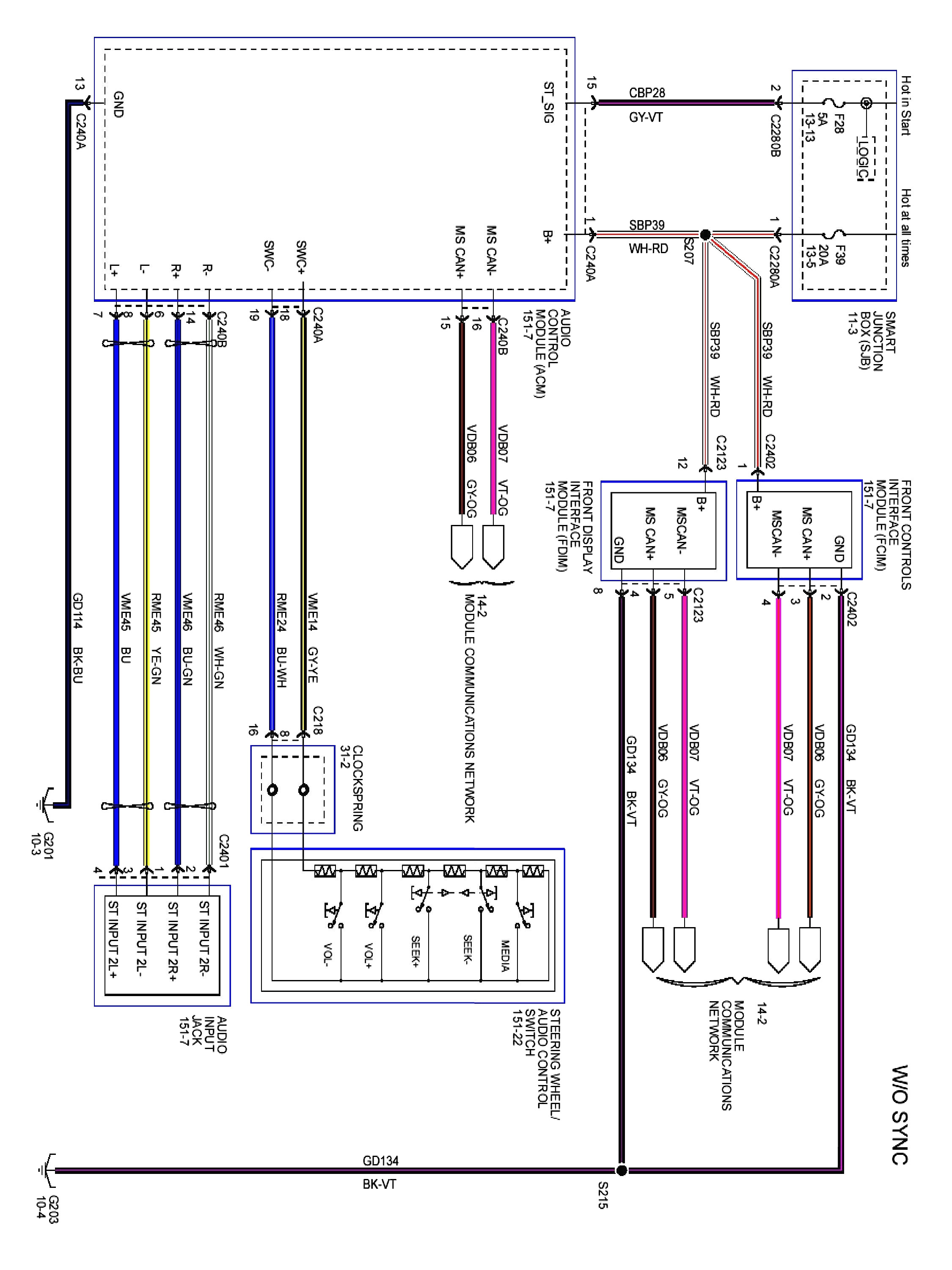 Ford Focus Stereo Wiring Volvo L120e Wiring Diagram For Wiring Diagram Schematics