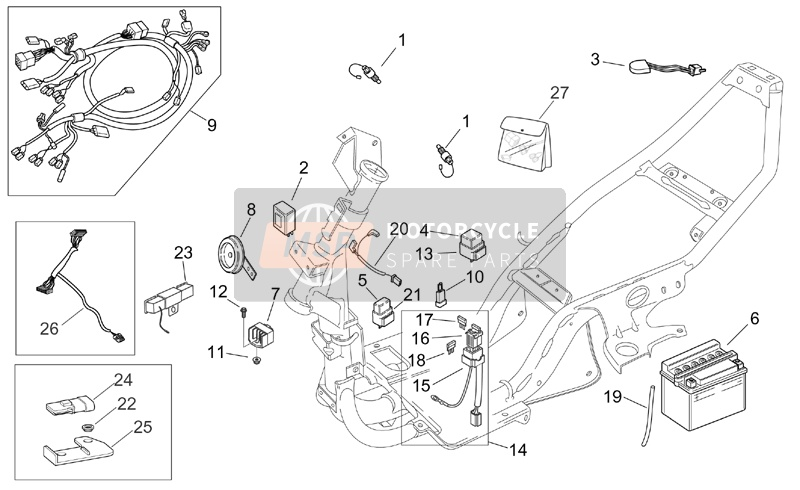 Zk 4188  Aprilia Mojito 50 Wiring Diagram Wiring Diagram