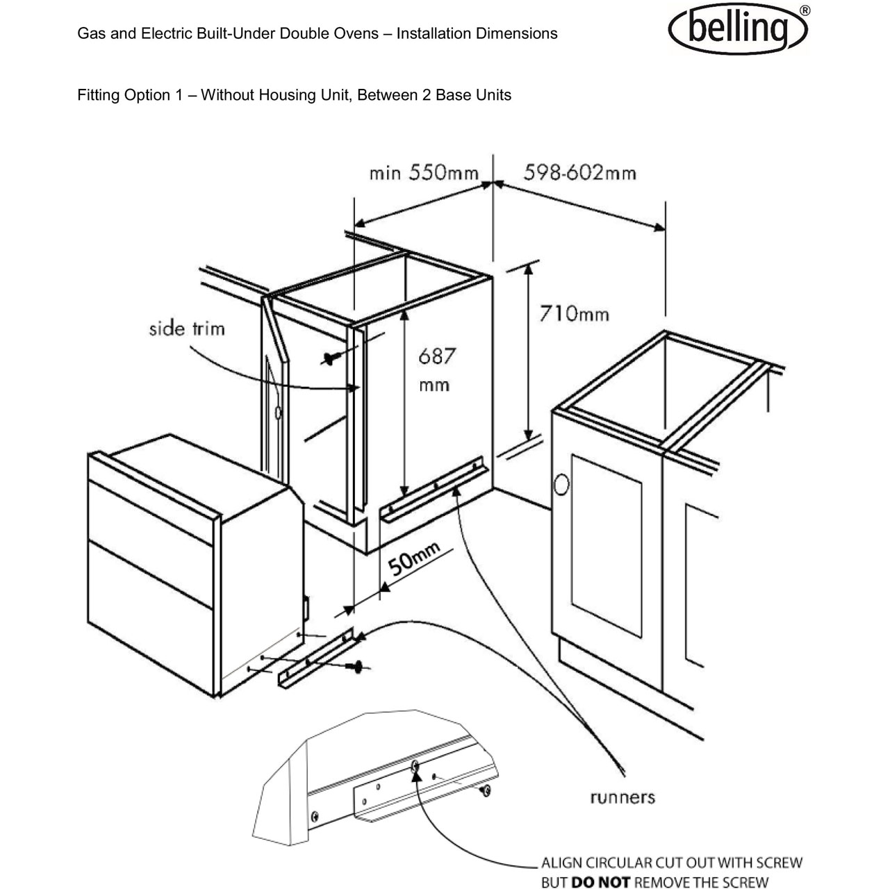 Belling Double Oven Wiring Diagram