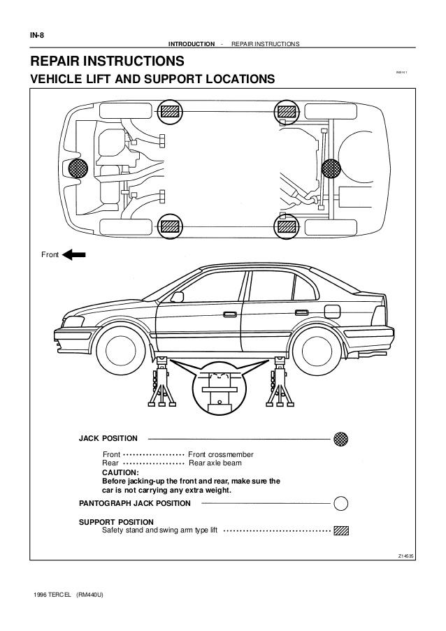 Toyota Tercel Wiring Diagram 1996
