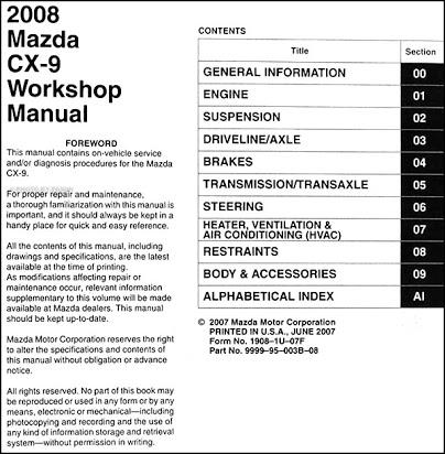Od 0856 08 Mazda Cx 9 Wiring Schematic Free Diagram