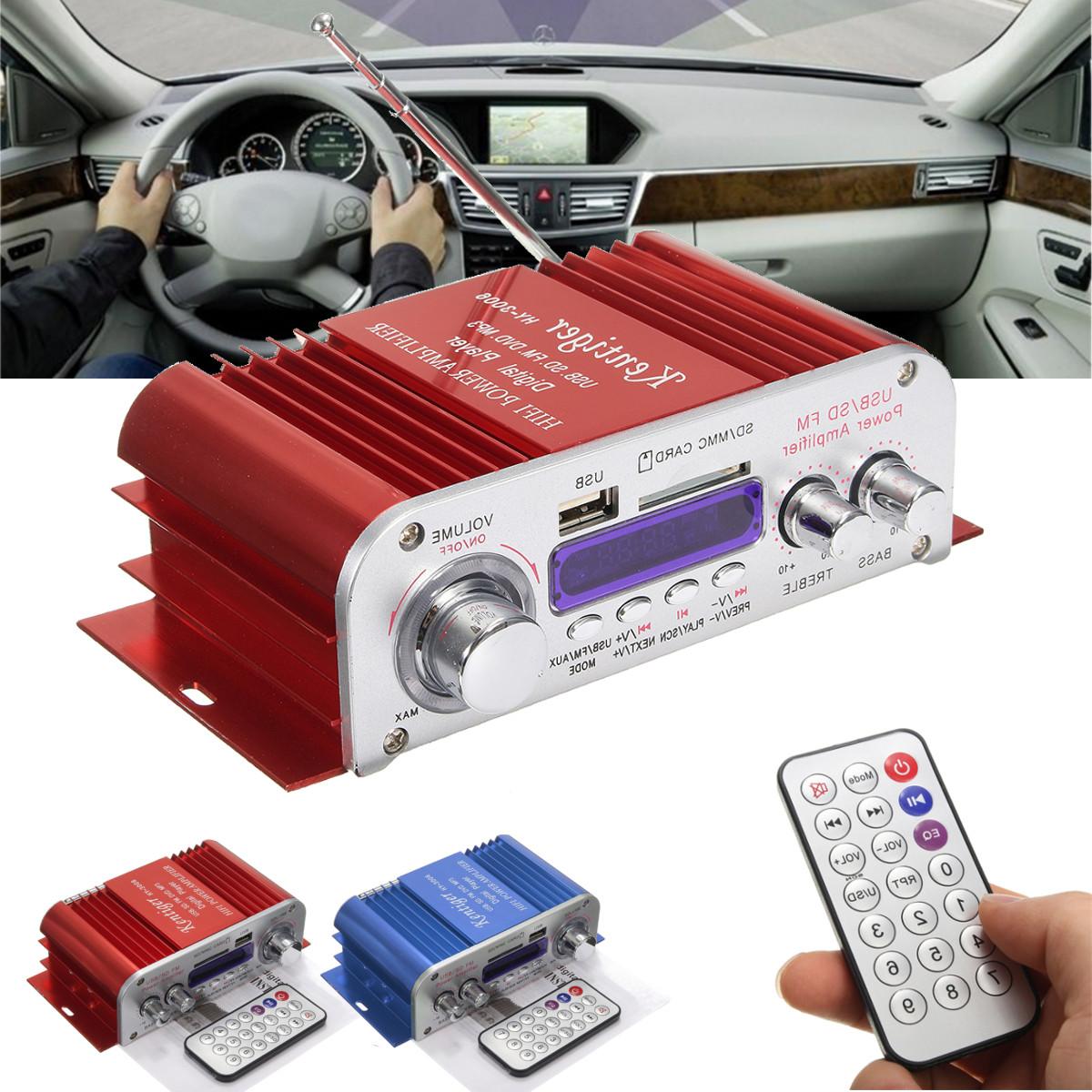 Fantastic 4 Channel Hi Fi Audio Stereo Mini Amplifier Car Home Mp3 Usb Fm Sd W Wiring Cloud Hemtshollocom