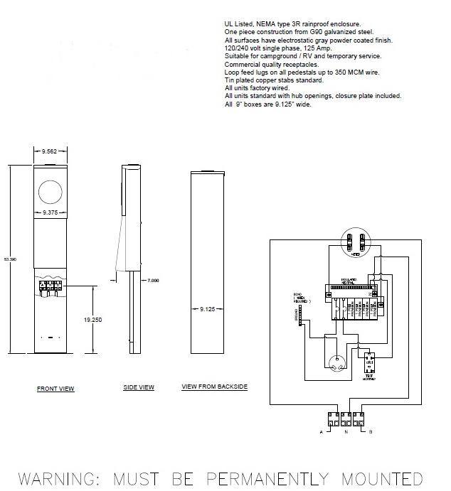 Rv Power Pedestal Wiring Diagram