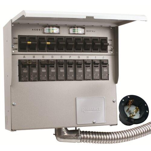 Awe Inspiring Reliance Controls Pro Tran 50 Amp 10 Circuit 2 Manual Transfer Wiring Cloud Eachirenstrafr09Org