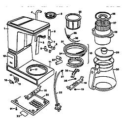 Sensational Black Decker Model Dcm12Wl Coffee Tea Maker Genuine Parts Wiring Cloud Hemtshollocom