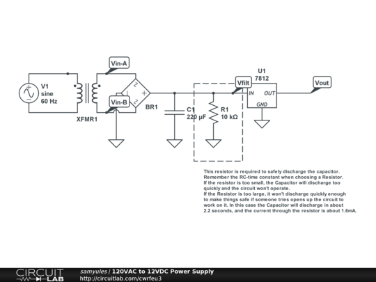 Cool 120Vac To 12Vdc Power Supply Circuitlab Wiring Cloud Ymoonsalvmohammedshrineorg