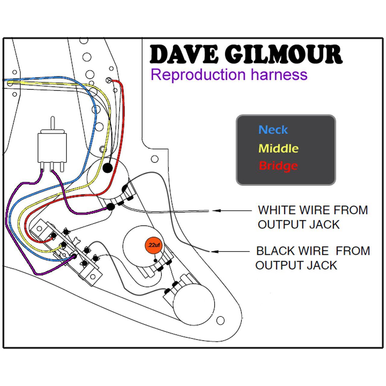Super Dave Gilmour Deluxe Pre Wired Stratocaster Wiring Kit With Recessed Wiring Cloud Ittabpendurdonanfuldomelitekicepsianuembamohammedshrineorg