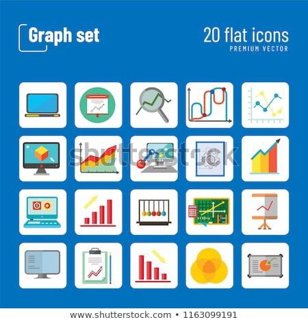Awesome Graph Icon Set Magnifier Graph Growing Stock Vektorgrafik Wiring Cloud Itislusmarecoveryedborg