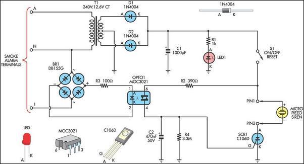 hardwired smoke detector schematic  2001 ford ranger xlt