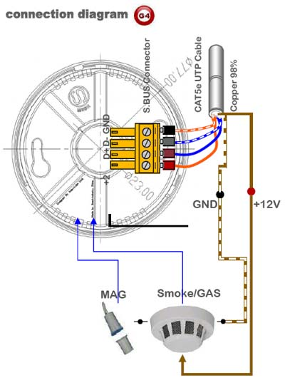 smoke detector interconnect wiring diagram kx 9531  hardwired smoke detector schematic free diagram  hardwired smoke detector schematic free