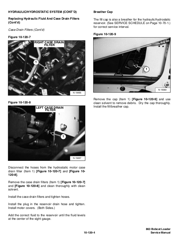 Bobcat 863 Fuel Tank Drain Plug Location