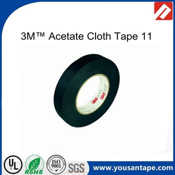 Excellent 3M 11 Acetate Cloth Electrical Tape Black For Wire Harness Coil Wiring Cloud Timewinrebemohammedshrineorg