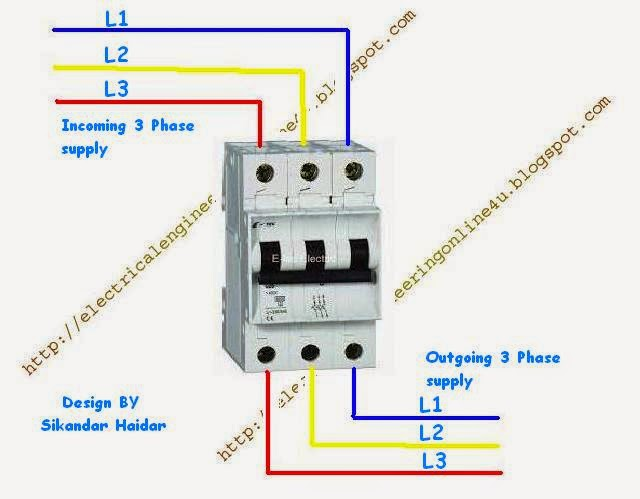 Enjoyable How To Wire 3 Pole Circuit Breaker Electrical Online 4U Wiring Cloud Rometaidewilluminateatxorg