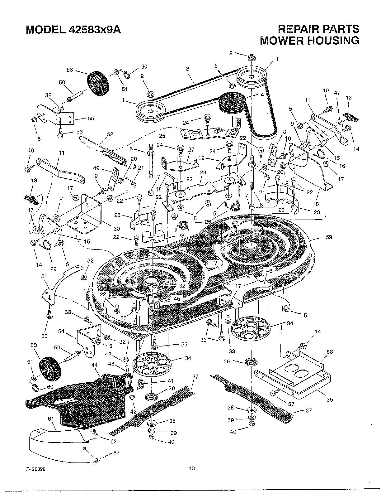Murray Riding Mower Wiring Diagram