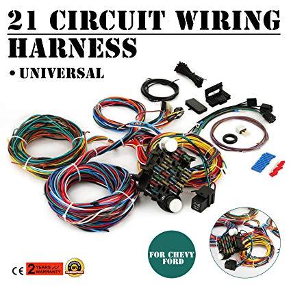 Pleasing Amazon Com Mophorn 21 Circuit Wiring Harness Kit Long Wires Wiring Wiring Cloud Ymoonsalvmohammedshrineorg