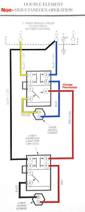 kd0915 water heater wiring simultaneous operation wiring