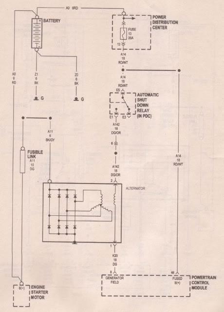 2001 Pt Cruiser Alternator Wiring Diagram