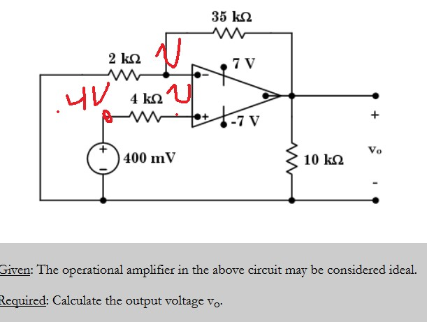 Fabulous Circuit Analysis Operational Amplifier Calculating Vo Wiring Cloud Faunaidewilluminateatxorg