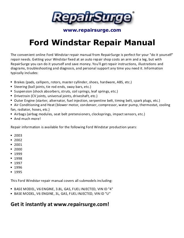 95 windstar engine wiring diagram mb 5784  manual pdf on engine diagram 2000 ford windstar owners  manual pdf on engine diagram 2000 ford