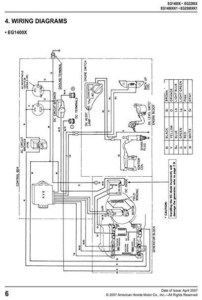 Honda Es6500 Generator Wiring Diagram