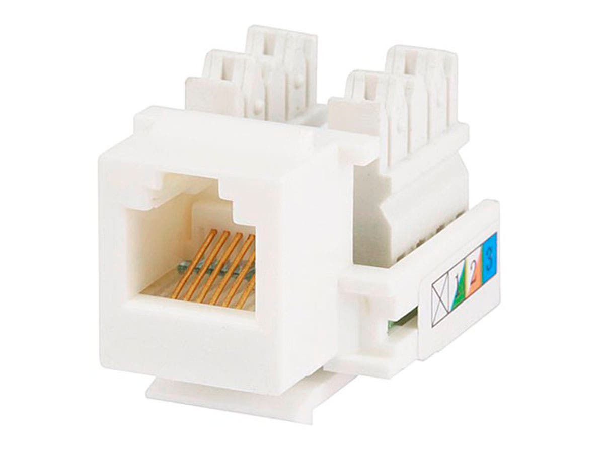 Fabulous Monoprice Rj12 Keystone Jack 110 Type White Monoprice Com Wiring Cloud Animomajobocepmohammedshrineorg