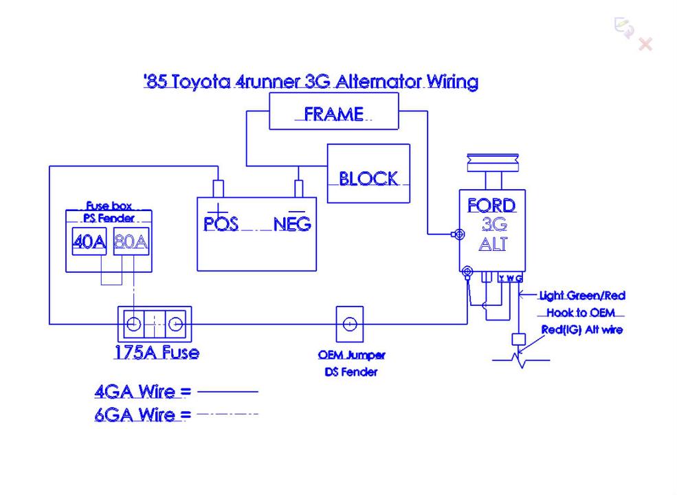 Rh 9491 4 Wire Alternator Wiring Toyota Schematic Wiring