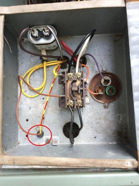 ew4901 condenser fan motor wiring to 4 wire condenser fan