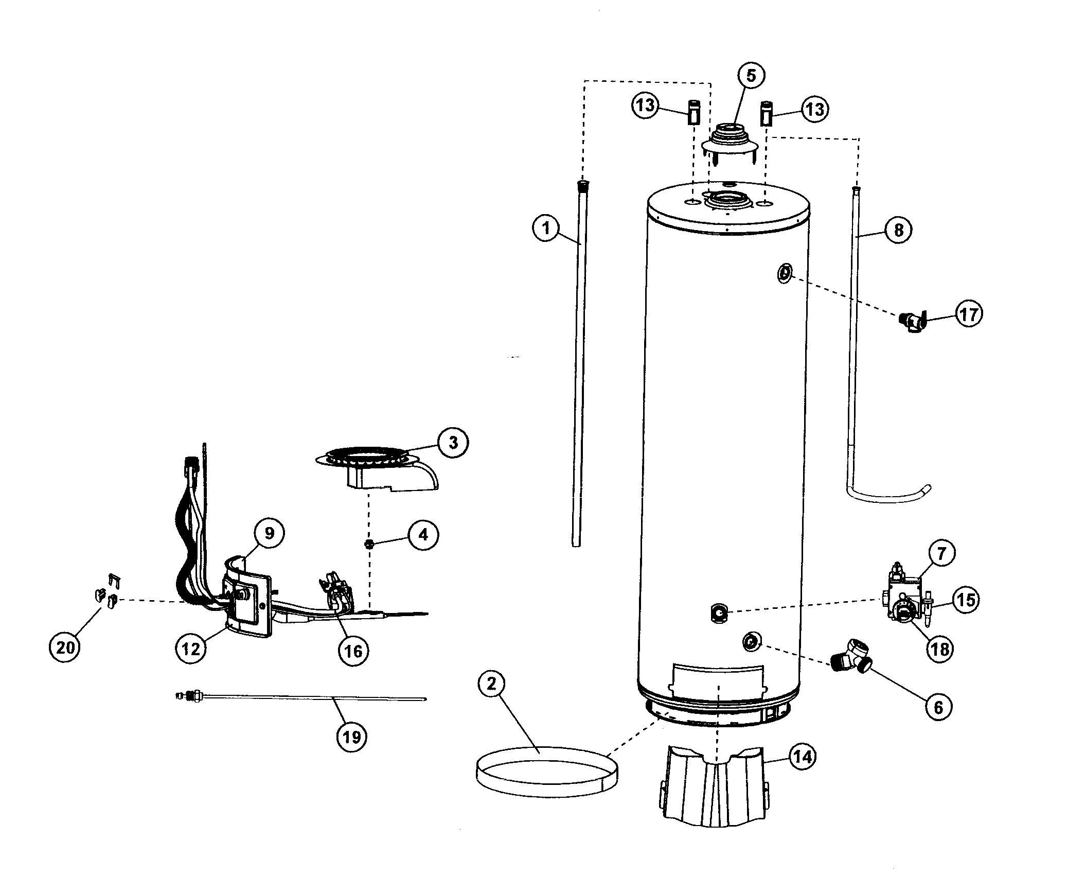 Ge Gas Water Heater Parts Diagram