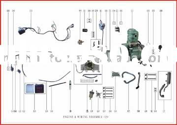 Hx 5251 With Chinese Atv Engine Parts Diagram On 125cc Engine Wiring Diagram Schematic Wiring