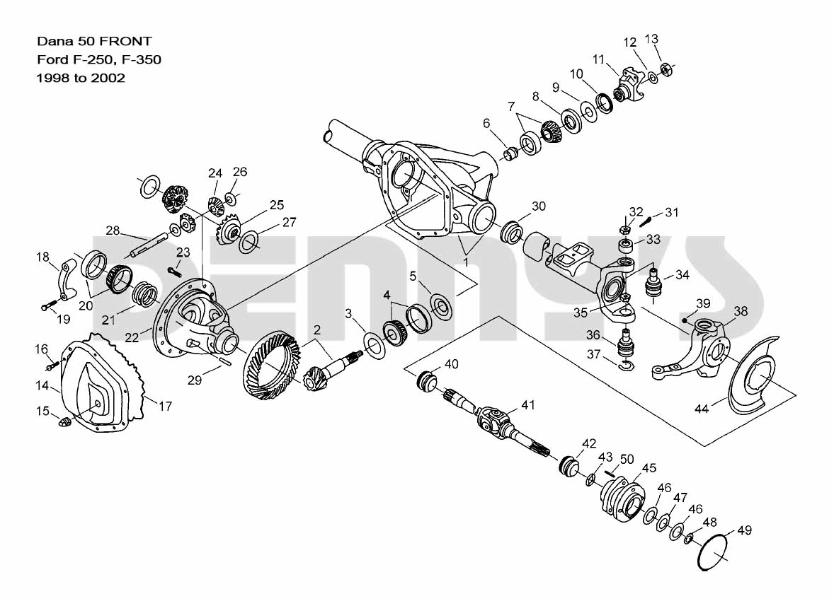 Phenomenal Dana 50 Front Ford F250 F350 1999 To 2002 Wiring Cloud Eachirenstrafr09Org